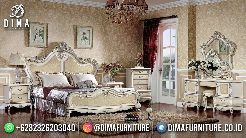 Best Seller Desain Tempat Tidur Mewah Jepara Snow Queen Luxury Design BT-1156