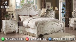 Best Seller Desain Tempat Tidur Mewah Jepara Splendid White Duco Color BT-1139