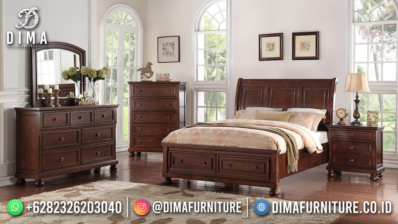 Best Seller Desain Tempat Tidur Minimalis Jepara Elegant Style Natural Color BT-1079