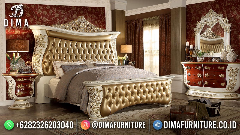 Best Seller Set Desain Tempat Tidur Mewah Jepara Luxurious Style Majestic Design BT-1132