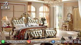 Best Seller Set Desain Tempat Tidur Mewah Jepara Luxury Carving Rose Gold BT-1133