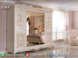 Desain Terbaru Lemari Pakaian Mewah Jepara Big Best Furniture Large Mirror BT-1171