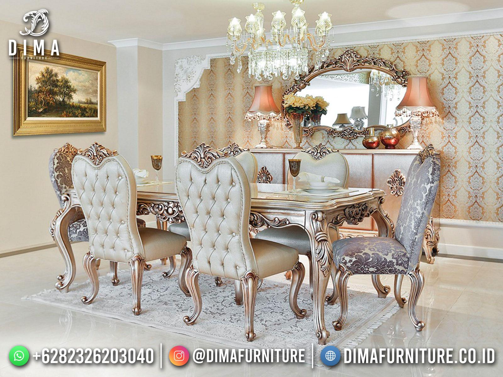 Dining Room Set Meja Makan Mewah Jepara Exclusive Luxury BT-1197