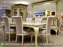 Exclusive Set Meja Makan Mewah Jepara Elegant Design Dining Room BT-1209