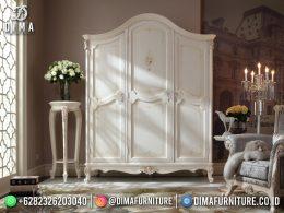Inspired Desain Lemari Pakaian Minimalis 3 Pintu White Color BT-1182