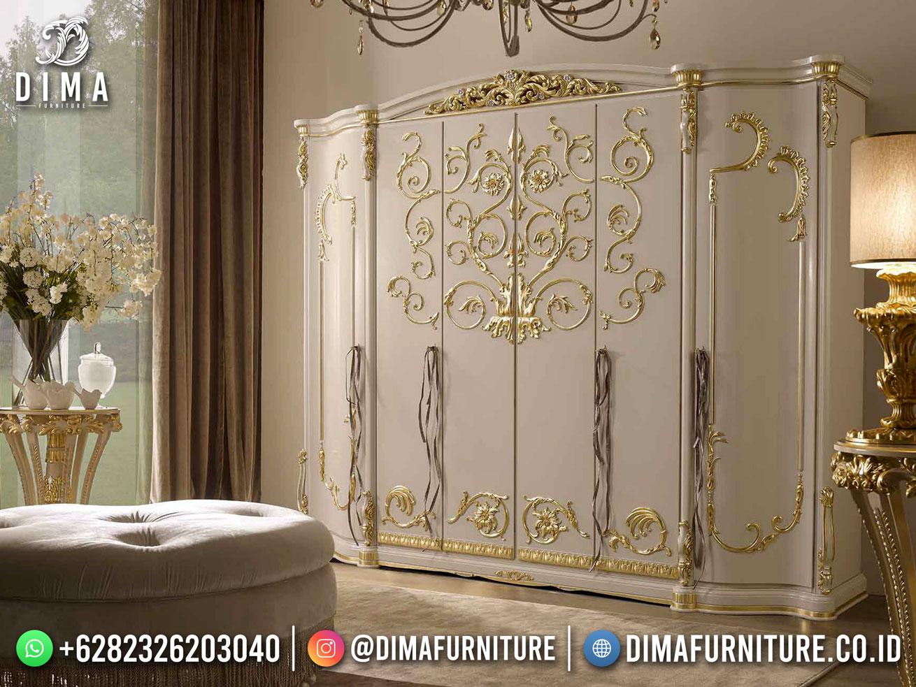 Jual Lemari Pakaian Mewah Jepara Luxury Carving Duco Color BT-1164