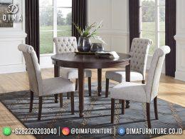 Jual Meja Makan Minimalis Jepara Round Table BT-1195