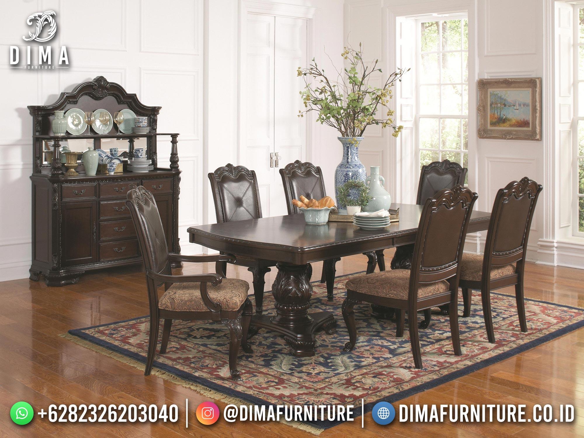Meja Makan Klasik Jepara Terbaru Elegant Best Furniture BT-1214