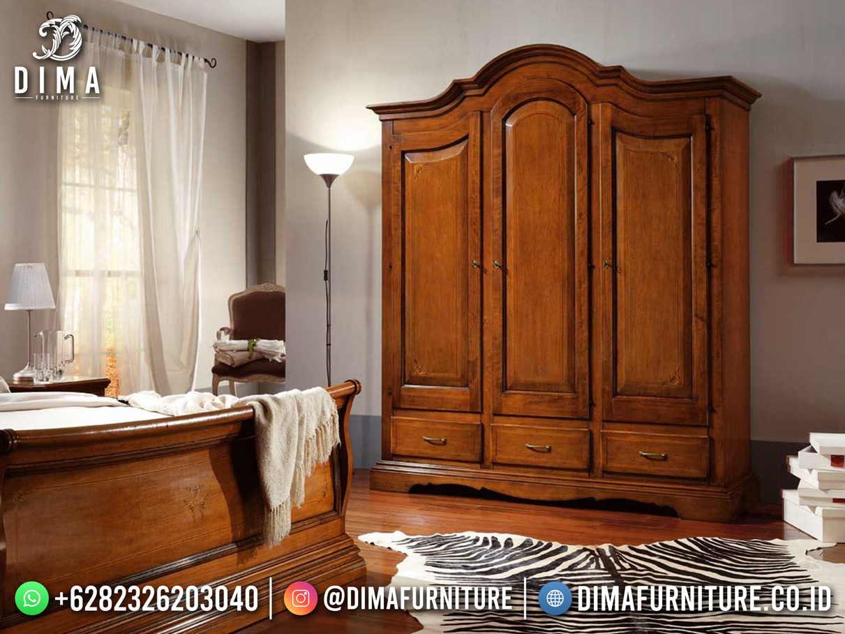 Model Lemari pakaian Minimalis Jepara 3 Pintu Best Furniture BT-1187