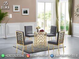 Popular Desain Meja Makan Minimalis Jepara Elegant Style Golden Skeleton BT-1095