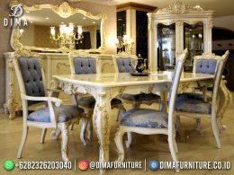 Popular Set Meja Makan Mewah Jepara Luxury Elegant Style BT-1207