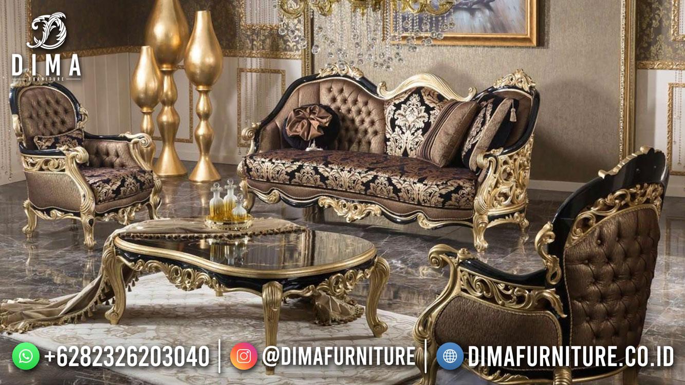Popular Sofa Tamu Mewah Jepara Combination Gold Engraving Bt-1041