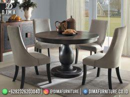 Retro Style Set Meja Makan Minimalis Jepara Elegant Design BT-1200