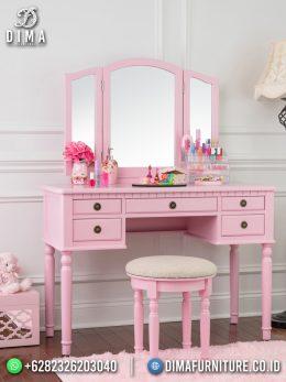 Special product desain meja rias minimalis jepara pink elegant style BT-1087
