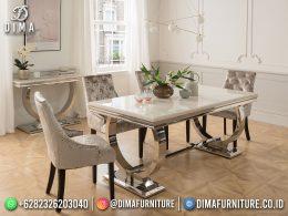 Terbaru Set Meja Makan Minimalis Jepara Elegant Style Combination Framework BT-1194