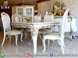 Terlaris Desain Set Meja Makan Mewah Jepara Luxury Beautiful BT-1208
