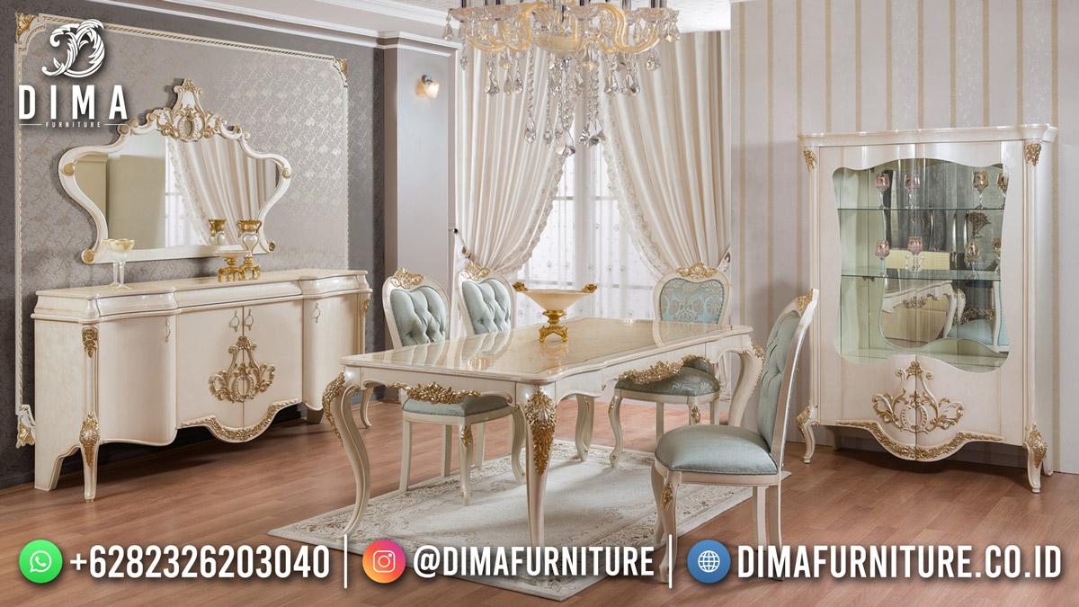 Classic Furniture Meja Makan Mewah Jepara Top Model BT-1246