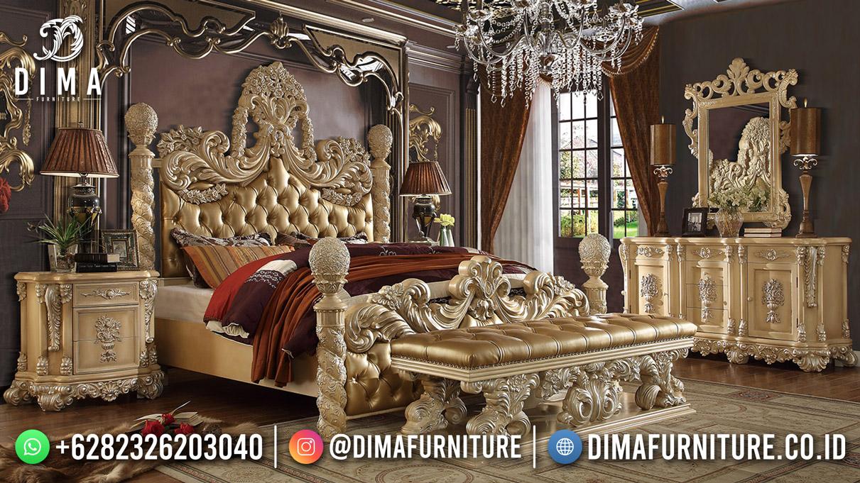 Luxury Carving Kamar Set Terbaru High Quality Furniture Jepara BT-1239