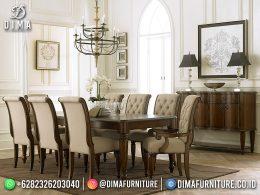 Meja Makan Minimalis Jati Simple Design Great Solid Wood Quality BT-1233